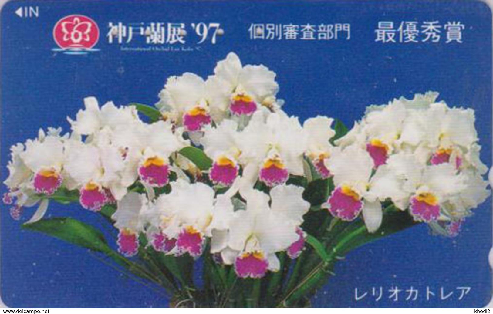 Télécarte Japon / 110-016 - Fleur - ORCHIDEE - ORCHID Flower Japan Phonecard - ORQUIDEA -  2378 - Fleurs