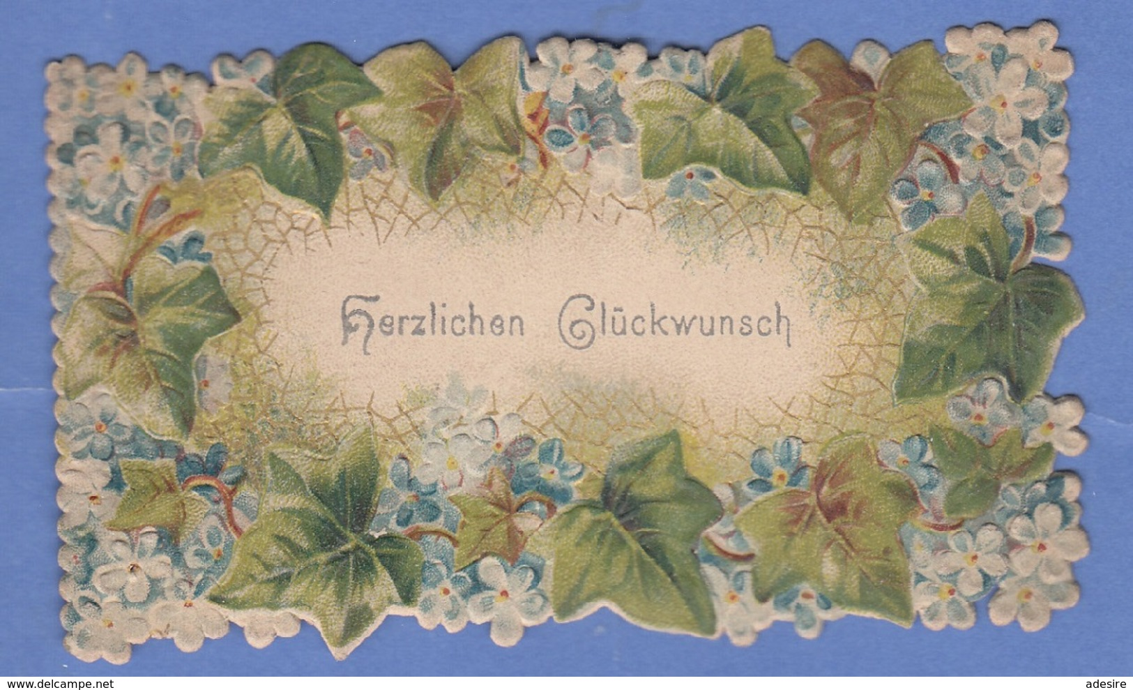 GLÜCKWUNSCHKÄRTCHEN, Prägekarte, Format Ca.10,5 X 5 Cm - Saisons & Fêtes