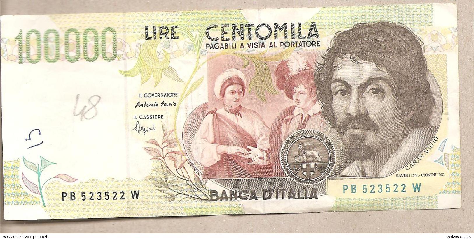 """Italia - Banconota Circolata Da 100.000 Lire """"Caravaggio 2° Tipo"""" - P-117a 1995 - 100.000 Lire"""