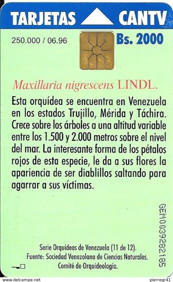-CARTE-PUCE-VENEZUELA-Bs.2000-06/96--ORCHIDEE-TBE - Fleurs