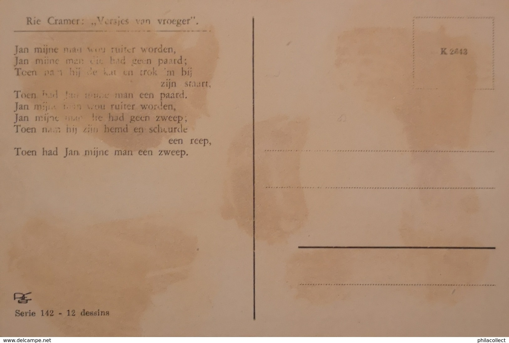 Rie Cramer // Versjes Van Vroeger No. 1 / 19?? - Illustratoren & Fotografen