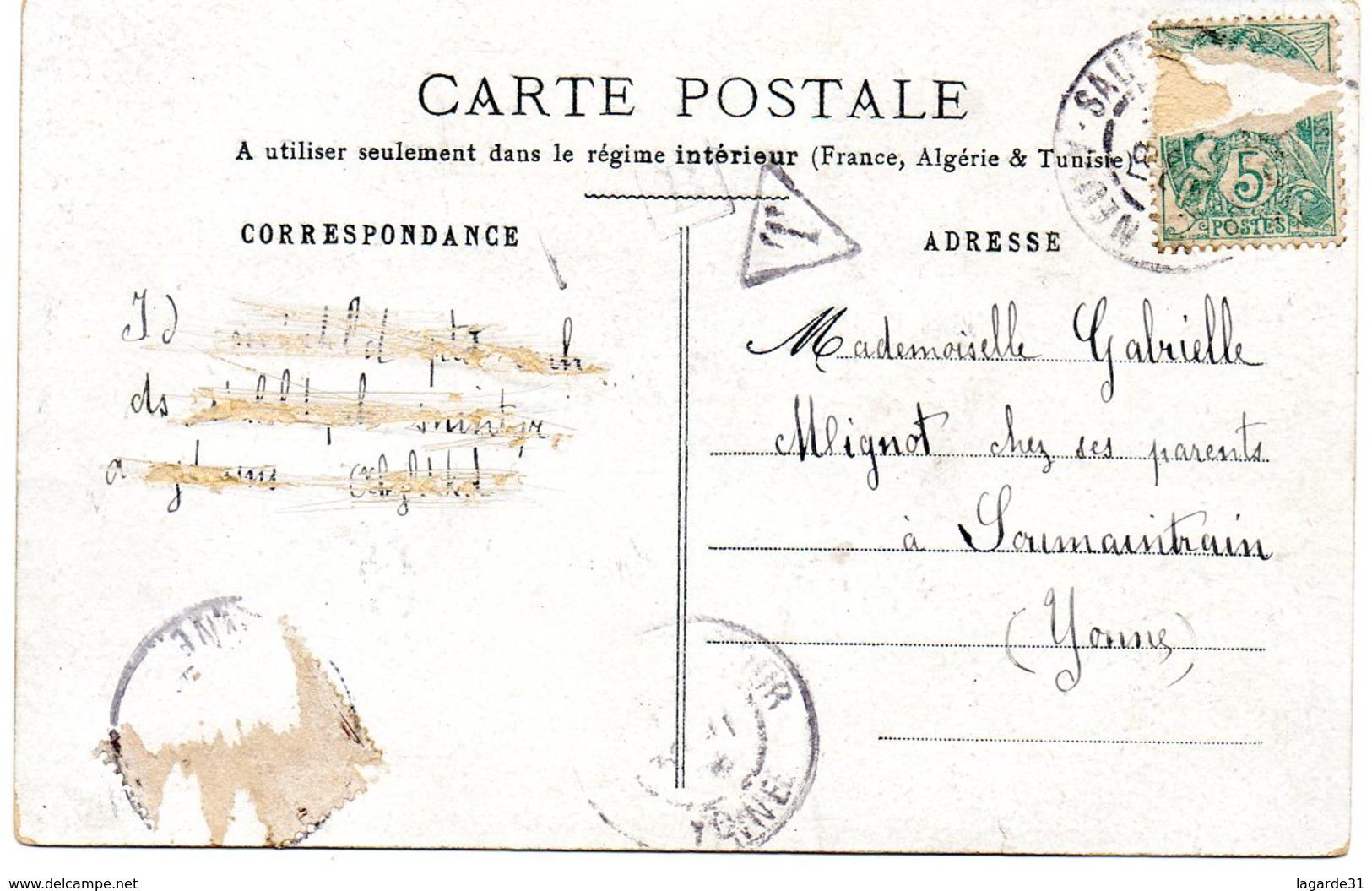 89 Yonne Neuvy Sautour Souvenir ( Rare Et Unique Sur Delcampe) - Neuvy Sautour