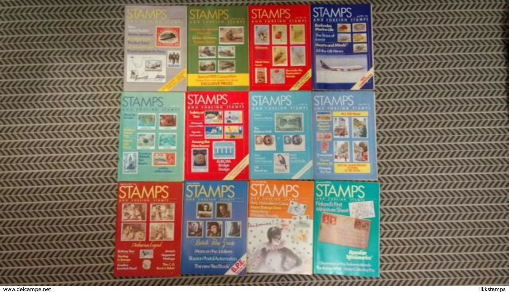 STAMPS AND FOREIGN STAMPS MAGAZINE JANUARY 1985 TO DECEMBER 1985 - Magazines