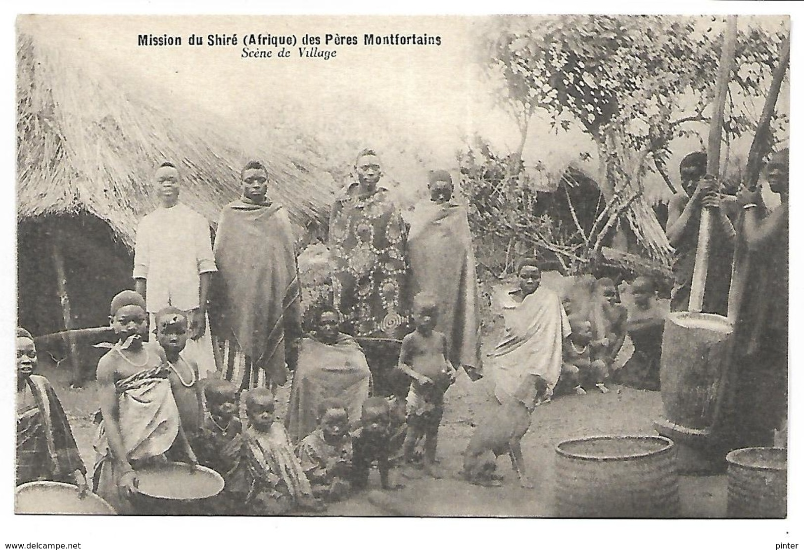 MALAWI - Mission Du Shiré Des Pères Montfortains - Scène De Village - Malawi