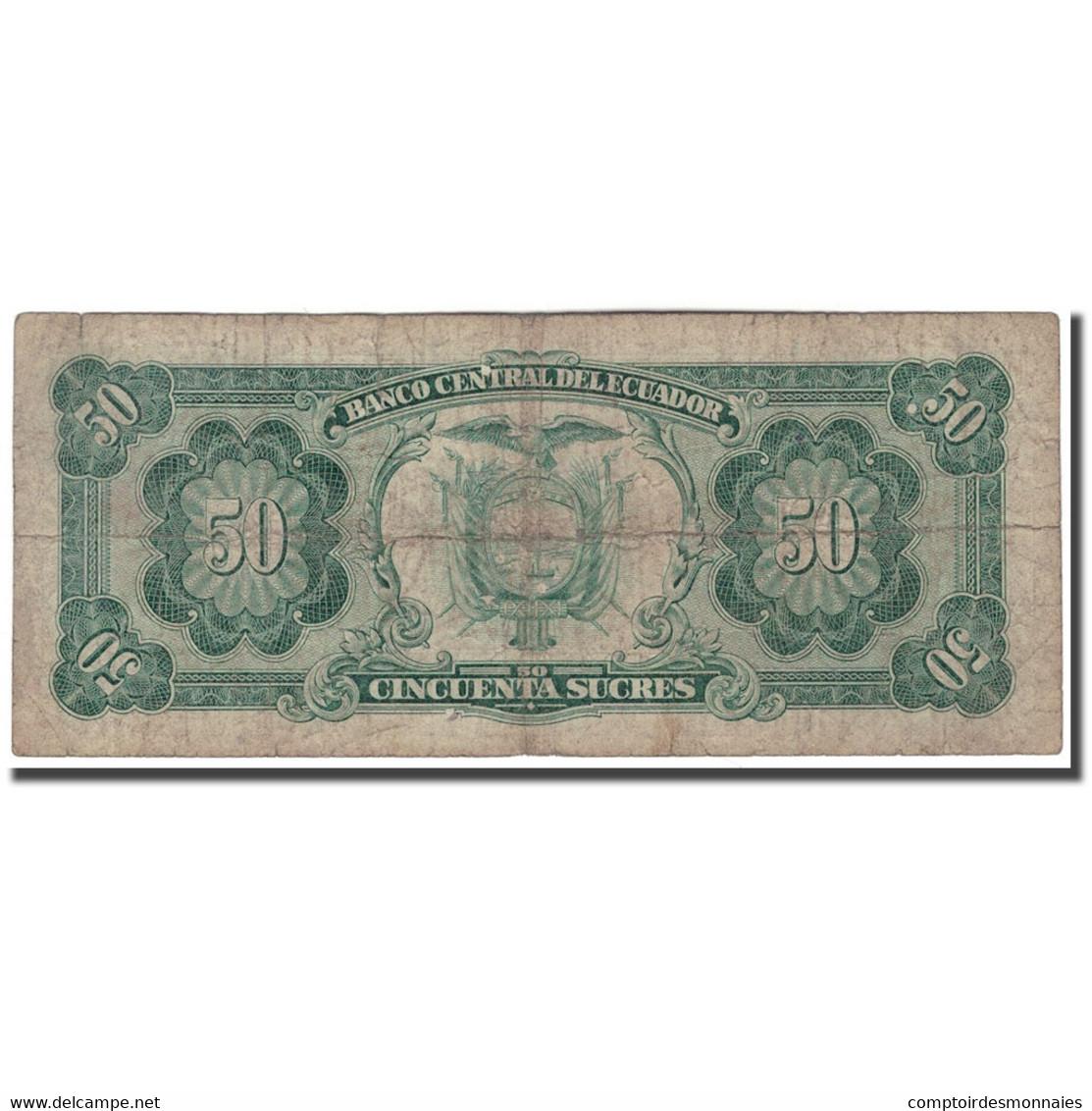 Billet, Équateur, 50 Sucres, 1988, 1988-11-22, KM:122a, B+ - Ecuador