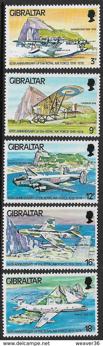 Gibraltar SG407-411 1978 60th Anniversary Of RAF Set 5v Complete Unmounted Mint [39/31994/2D] - Gibraltar