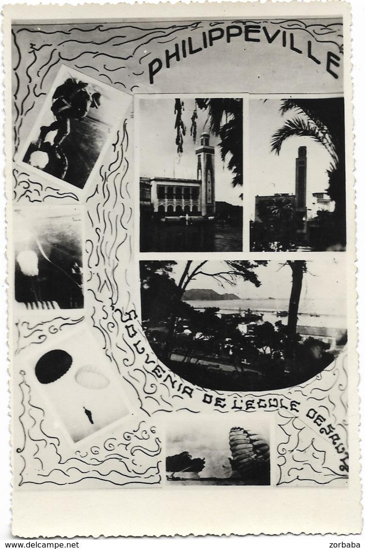 CPSM. MILITARIA. ALGERIE. PHILIPPEVILLE. 1948/50. Souvenir De L'Ecole De Santé. Vierge. - Autres