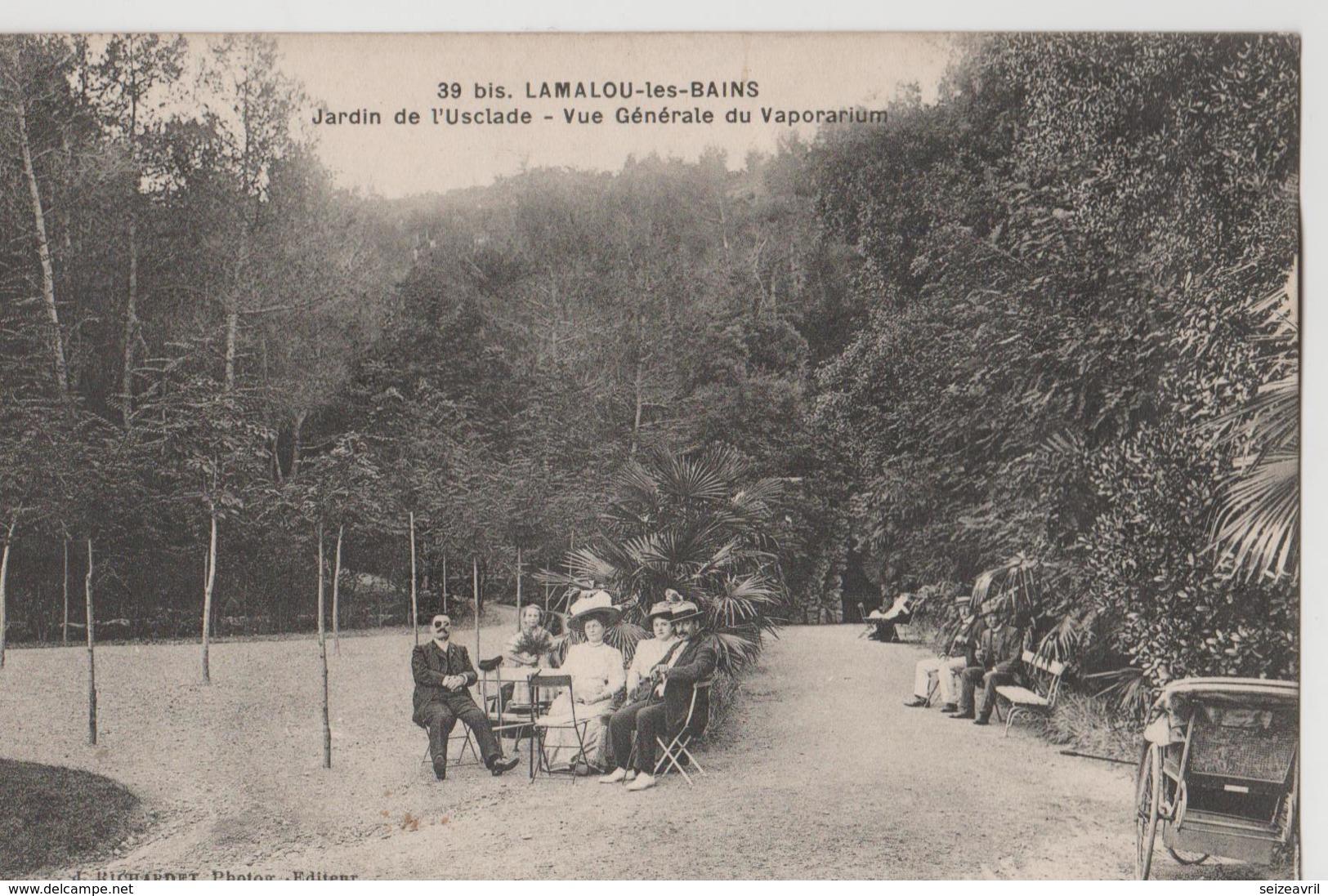 LAMALOU LES BAINS  - JARDIN DE L ' USCLADE - Lamalou Les Bains