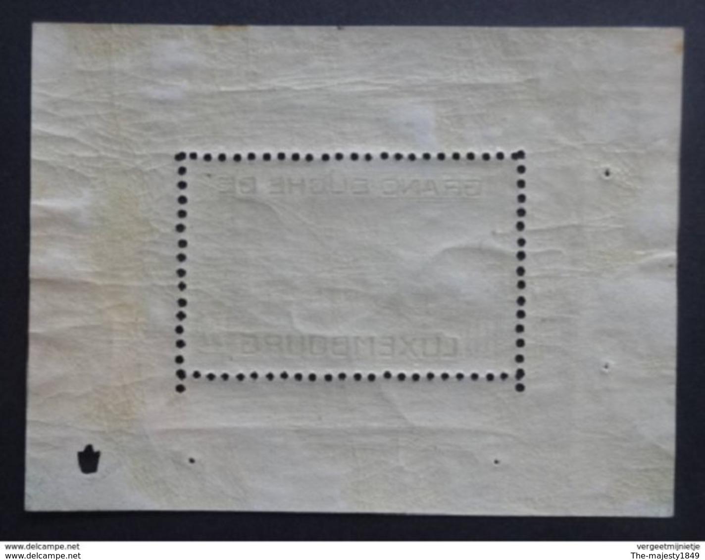 Luxembourg - Bloc 1 - 1923 - Neuf - VC. 2000.00 € - Blocks & Sheetlets & Panes