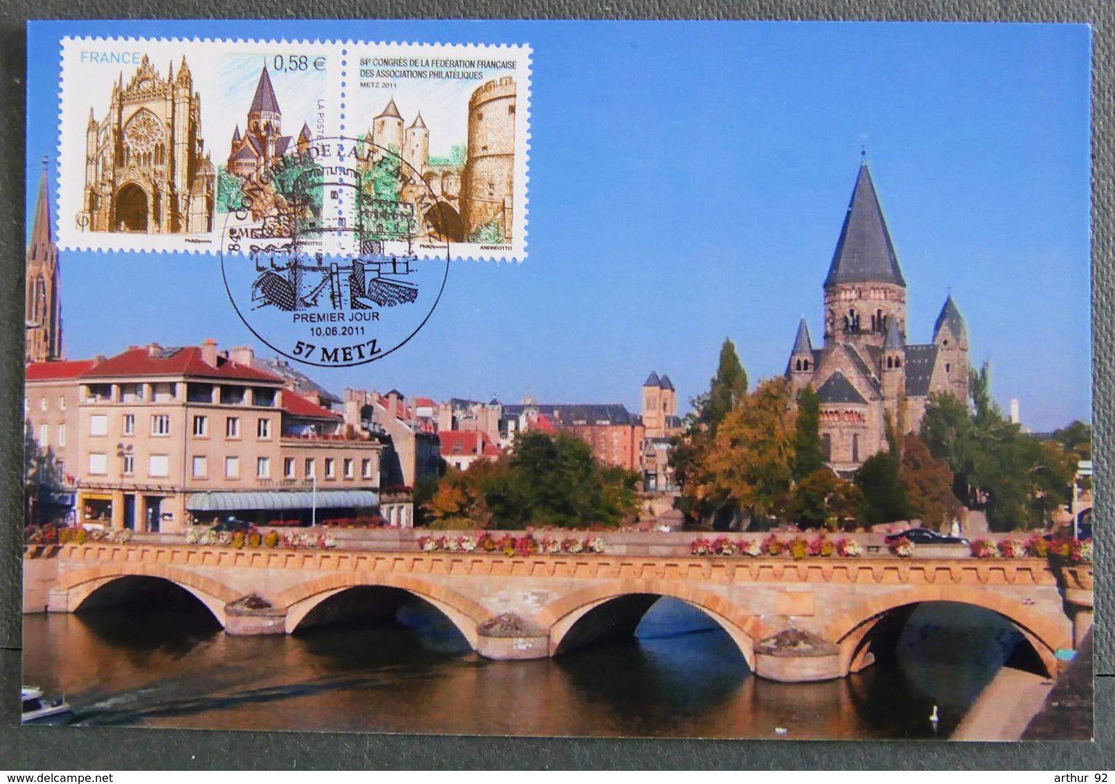 FRANCE - 2011 - PJ  4554 - 84è CONGRES FFAP - METZ - FDC