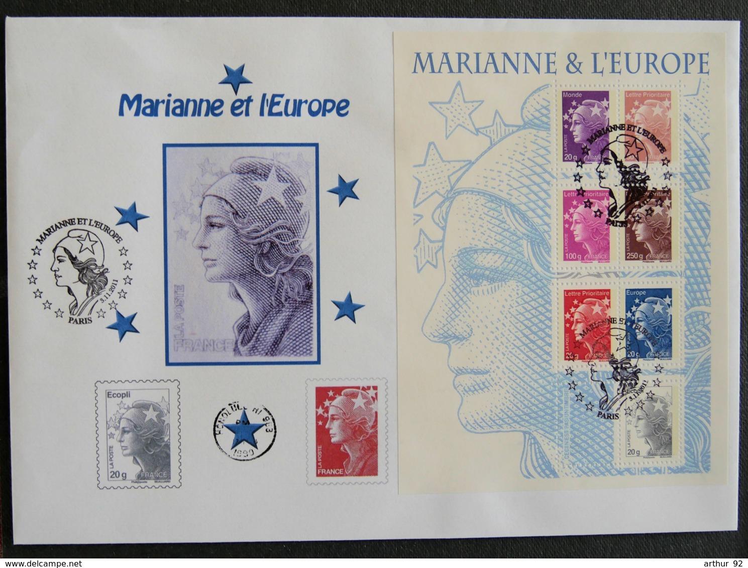 FRANCE - 2011 - PJ  4614 à 4620 - MARIANNE ET L EUROPE - FDC