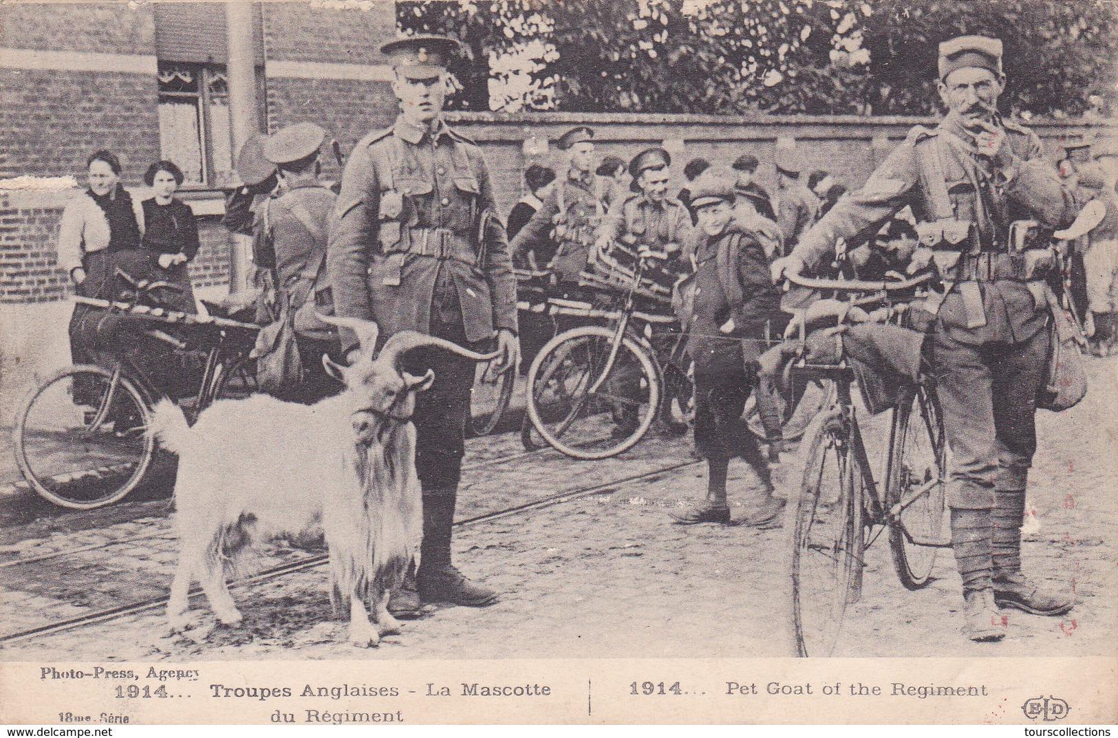 CPA GUERRE 1914 - ANGLAIS - La Mascotte : BOUC Des Troupes Anglaises - Vélo Cycliste - Guerre 1914-18