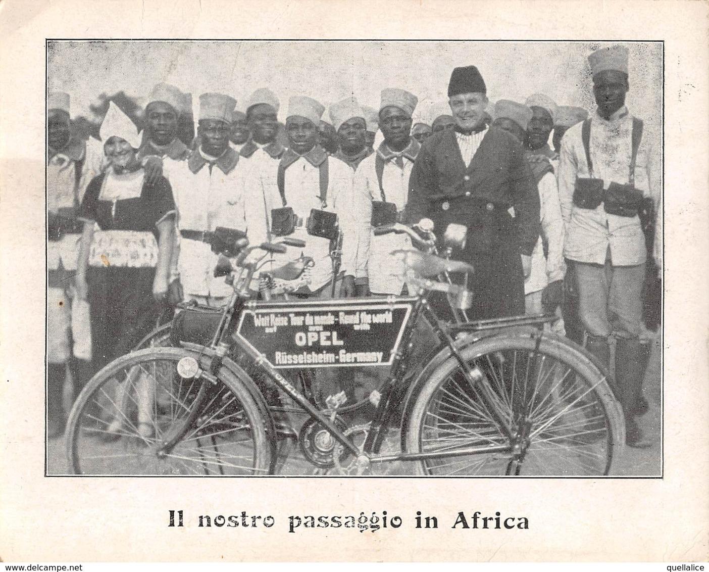 """0912 """"IL NOSTRO PASSAGGIO IN AFRICA-NOI SIAMO OLANDESI-FACCIAMO IL GIRO DEL MONDO IN BICI-1927"""" ANIMATA. CART NON SPED - Non Classés"""