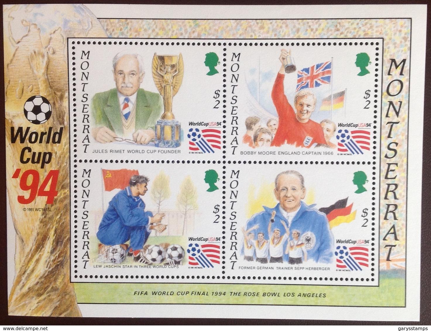 Montserrat 1994 World Cup Minisheet MNH - Montserrat
