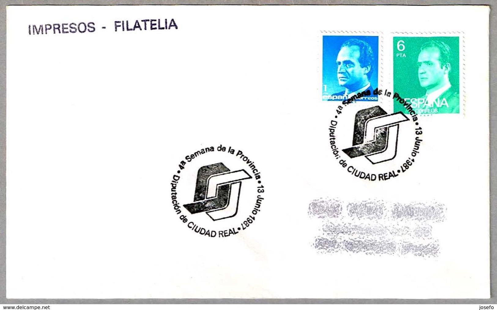 Matasello SEMANA DE LA PROVINCIA. Ciudad Real 1987 - 1981-90 Cartas