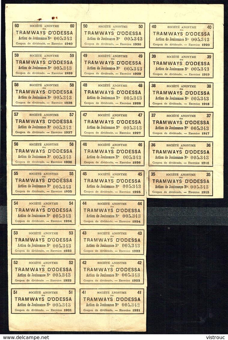 BE - S.A. TRAMWAYS D'ODESSA - Action De JOUISSANCE - 21.000 EA - 1881. - Asie