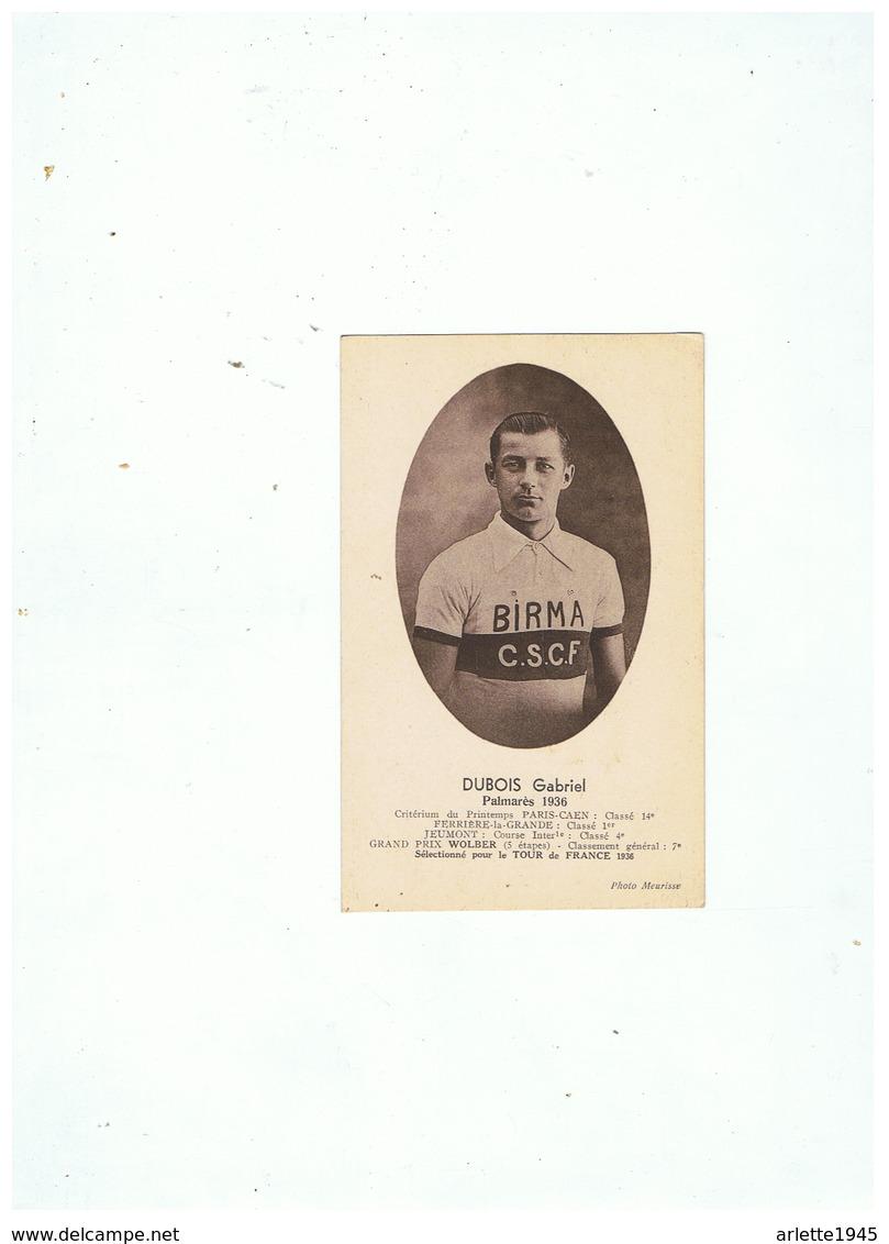 CARTE PHOTO  DUBOIS GABRIEL DE FERRIERE LA GRANDE (NORD)  PALMARES  1936 - France