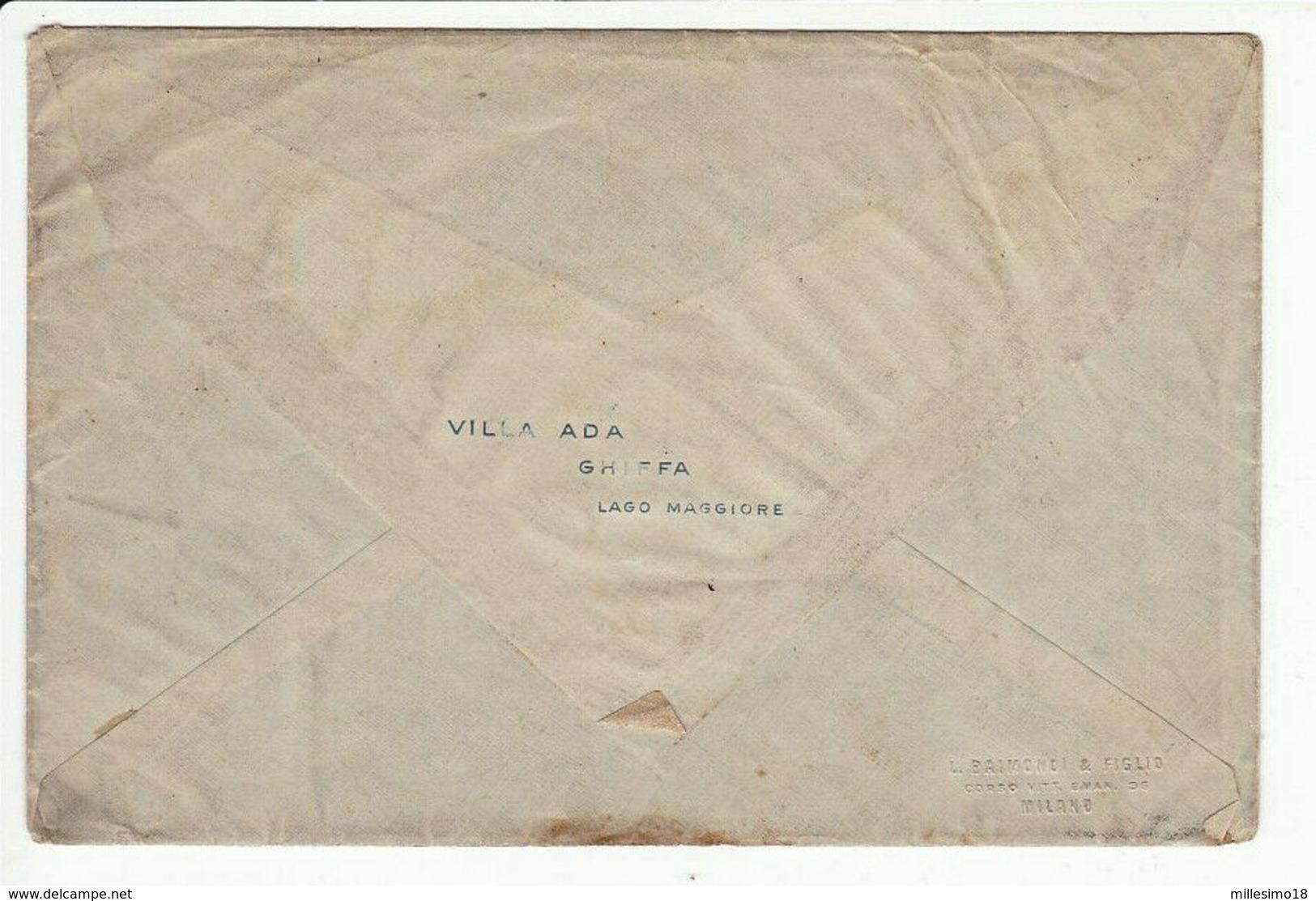 Italy Italia 1911 Ghiffa Bollo Tondo Riquadrato Su Busta Villa Ada 2 Scansioni - 1900-44 Victor Emmanuel III