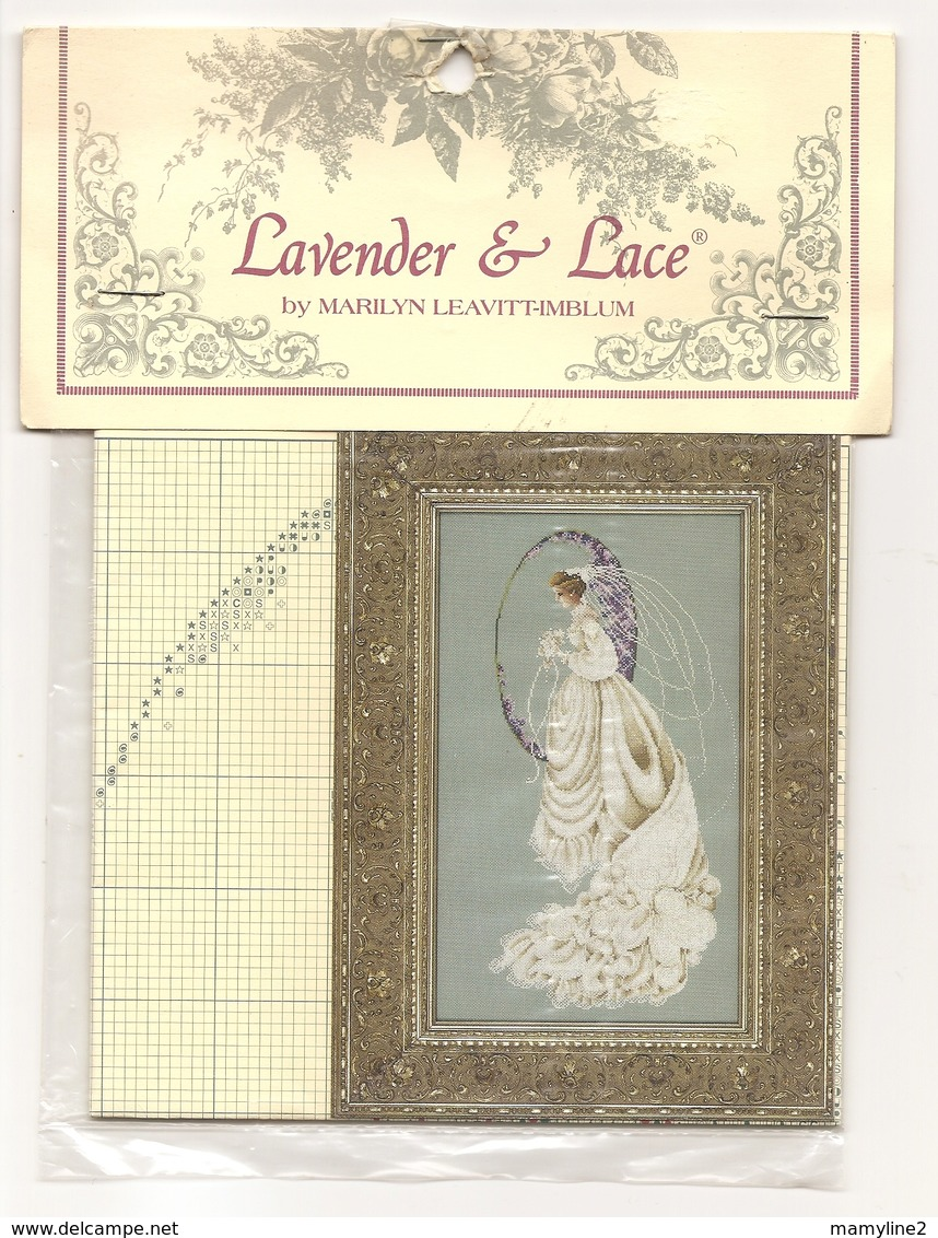 "Grille LAVENDER & LACE "" Spring Bride"" - Stickarbeiten"