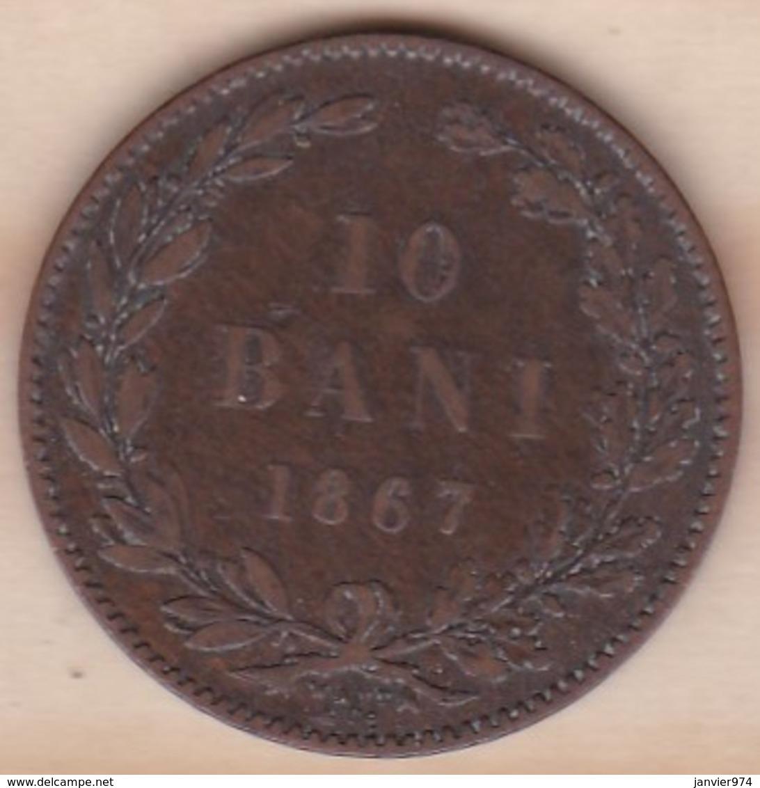 ROUMANIE . 10 BANI 1867 WATT & CO . CAROL I . KM# 4 - Roemenië