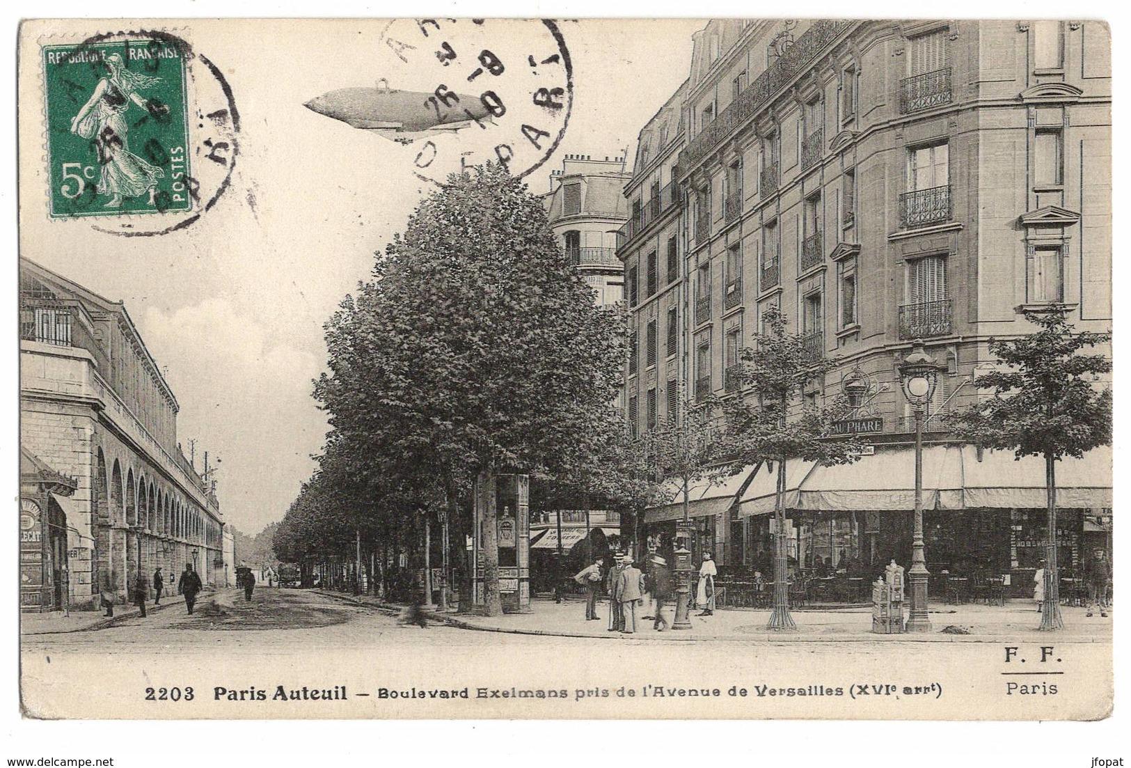 75 PARIS - 16ème, Auteuil, Boulevard Exelmans Pris De L'avenue De Versailles (voir Descriptif) - Arrondissement: 16