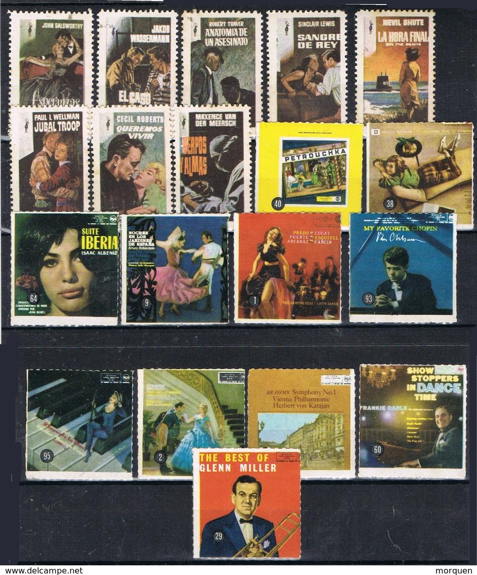 Lote 18 Viñetas, Label, Erinophilie Spain CINE, Cinema Poster, And Musik Poster * - Erinnofilia