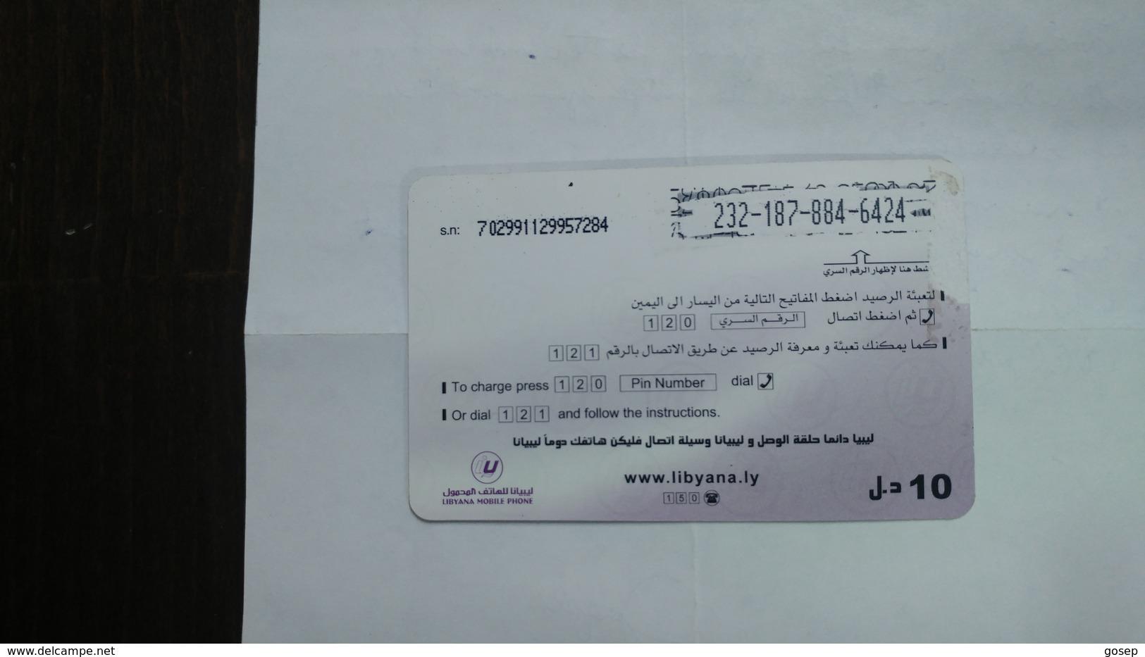 Libya-prepiad Card-(25)-(10units)-(2321878846424)-used Card+1card Prepiad Free - Libya