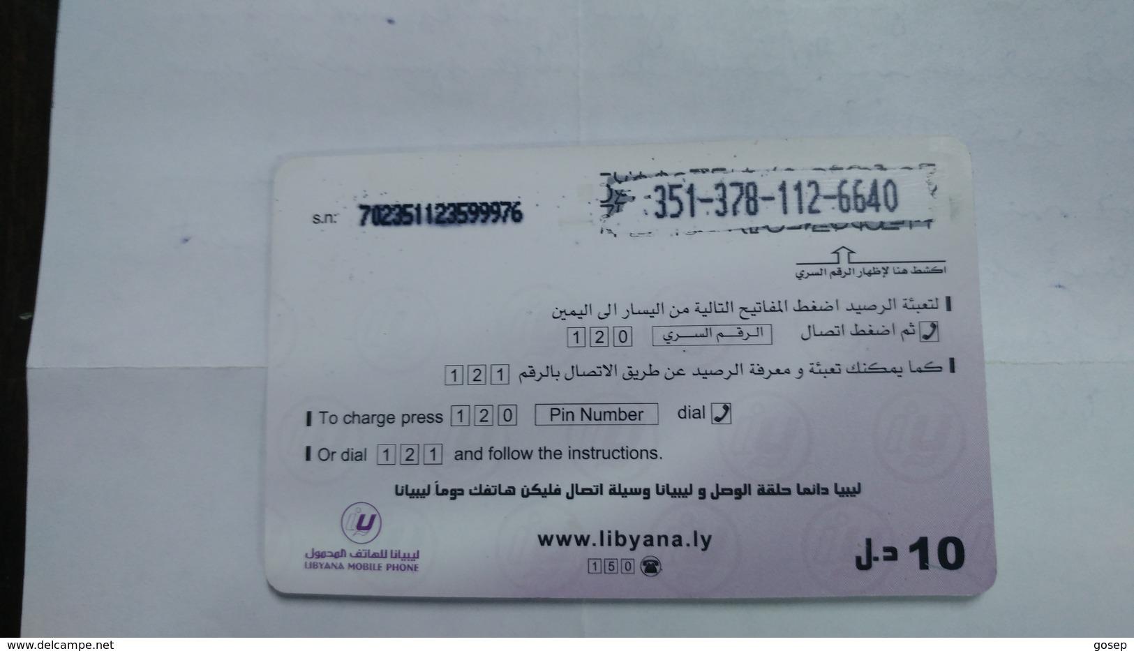 Libya-prepiad Card-(27)-(10units)-(3513781126640)-used Card+1card Prepiad Free - Libye