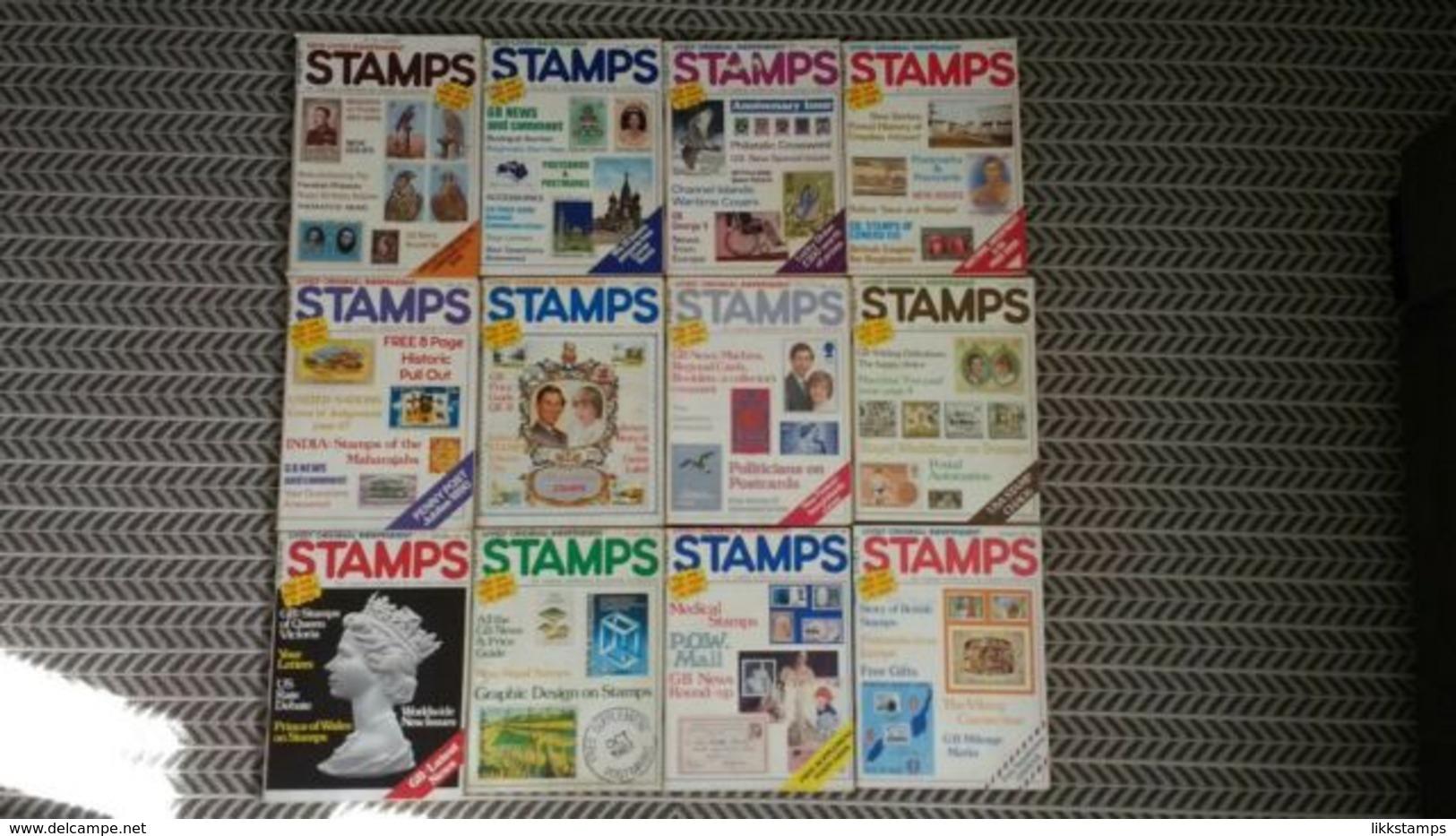STAMPS MAGAZINE JANUARY 1981 TO DECEMBER 1981 (VOLUME 1 No. 11 TO VOLUME 2 No. 10) - Inglesi (dal 1941)