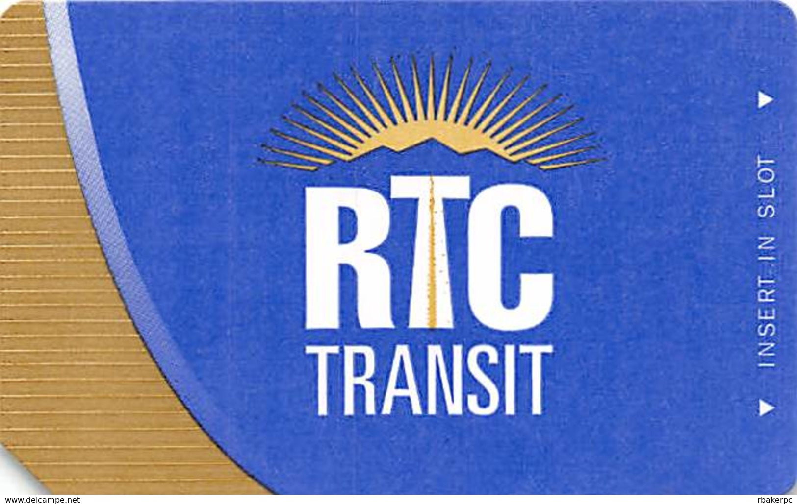 Paper RTC Ticket Southern Nevada Transit Ticket - Gold On Left - Text Over Mag Stripe - Other