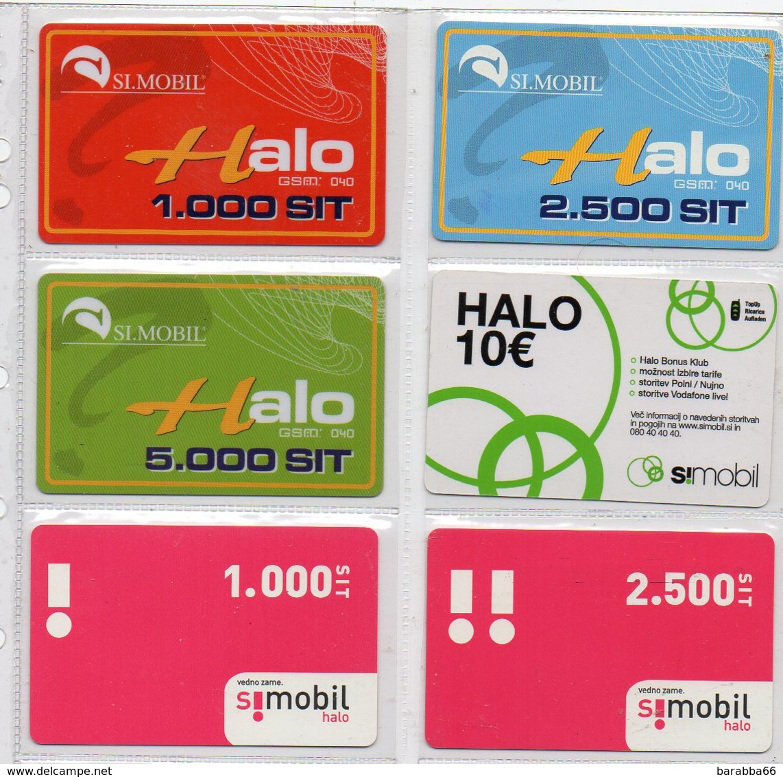 Simobil Prepaid Phonecard - LOT OF 6 PHONECARDS - Slowenien