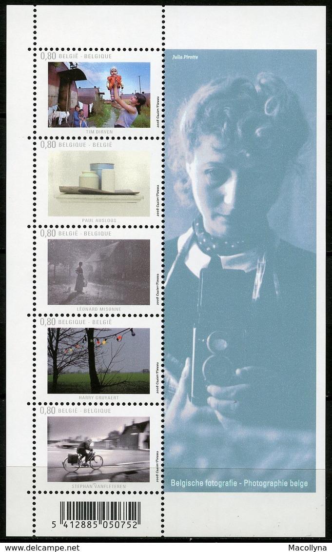 Blok 160** Met Zegels 3825/29**  Belgische Fotografie - La Photographie Belge MNH - Blocs 1962-....