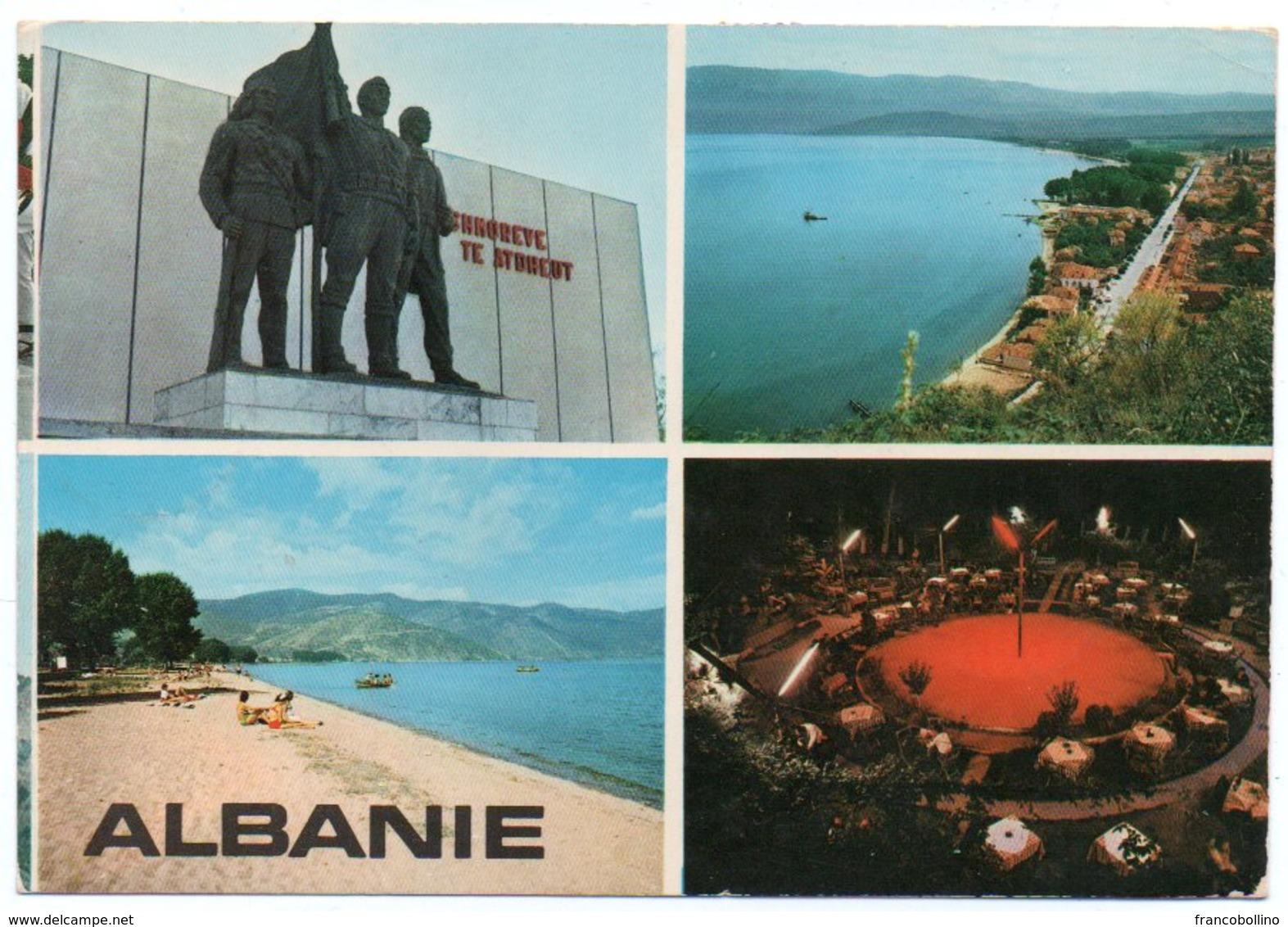 ALBANIE/ALBANIA - POGRADECI VIEWS / THEMATIC STAMPS-FLOWERS - Albania