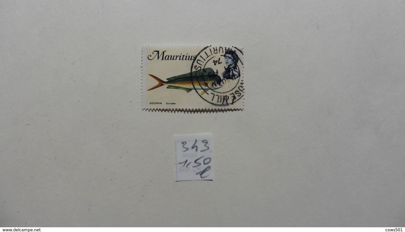 Afrique > Maurice  Timbre N°343  Oblitéré - Maurice (1968-...)