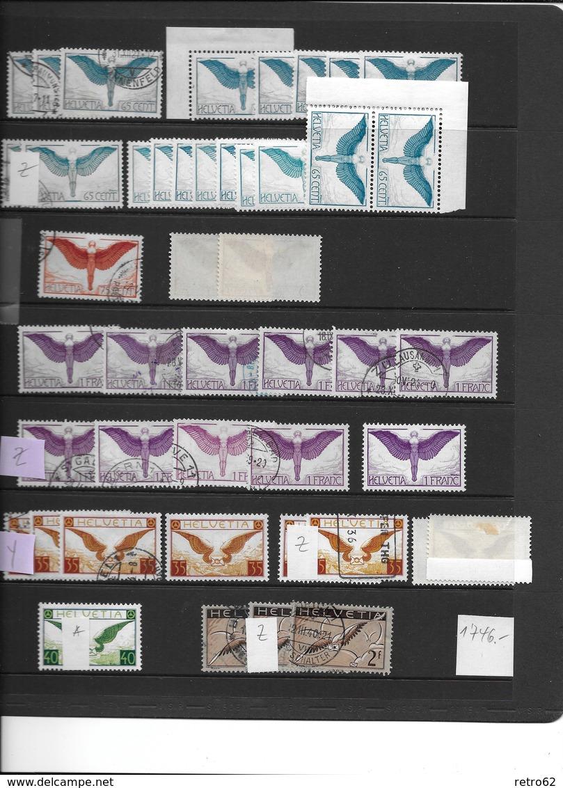 SAMMLUNG FLUGPOSTMARKEN SCHWEIZ → Sehr Umfangreich Mit über 1'100 Briefmarken - Collections