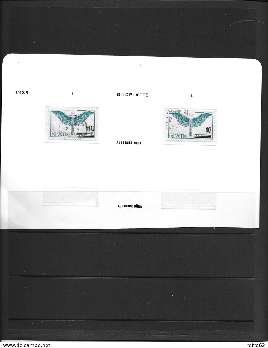 SAMMLUNG FLUGPOSTMARKEN SCHWEIZ → Sehr Umfangreich Mit über 1'100 Briefmarken - Svizzera