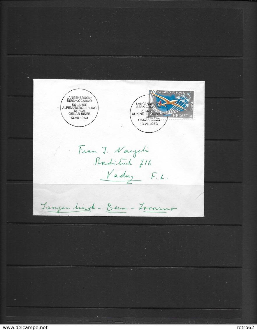 SAMMLUNG FLUGPOSTMARKEN SCHWEIZ → Sehr Umfangreich Mit über 1'100 Briefmarken - Lotes/Colecciones