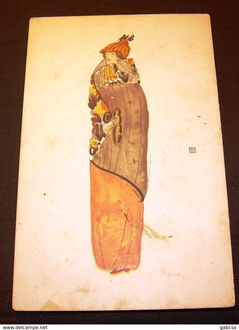 Wiener Werkstätte  Postkarte Nr.: 864 Eduard Josef Wimmer-Wisgrill - Künstlerkarten