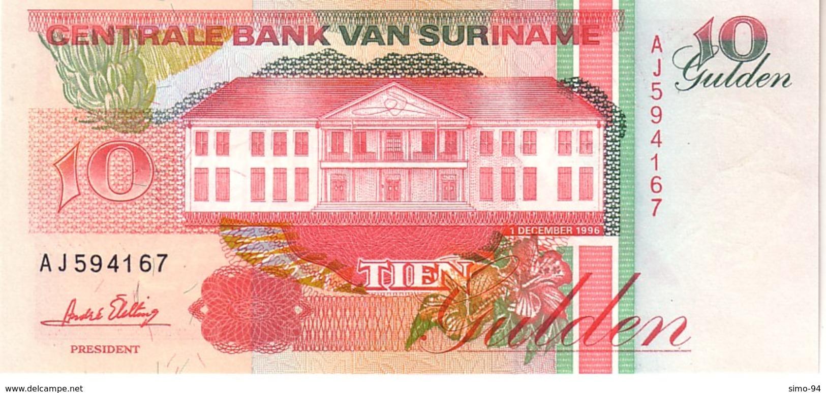 Surinam P.137  10 Gulden 1996 Unc - Surinam