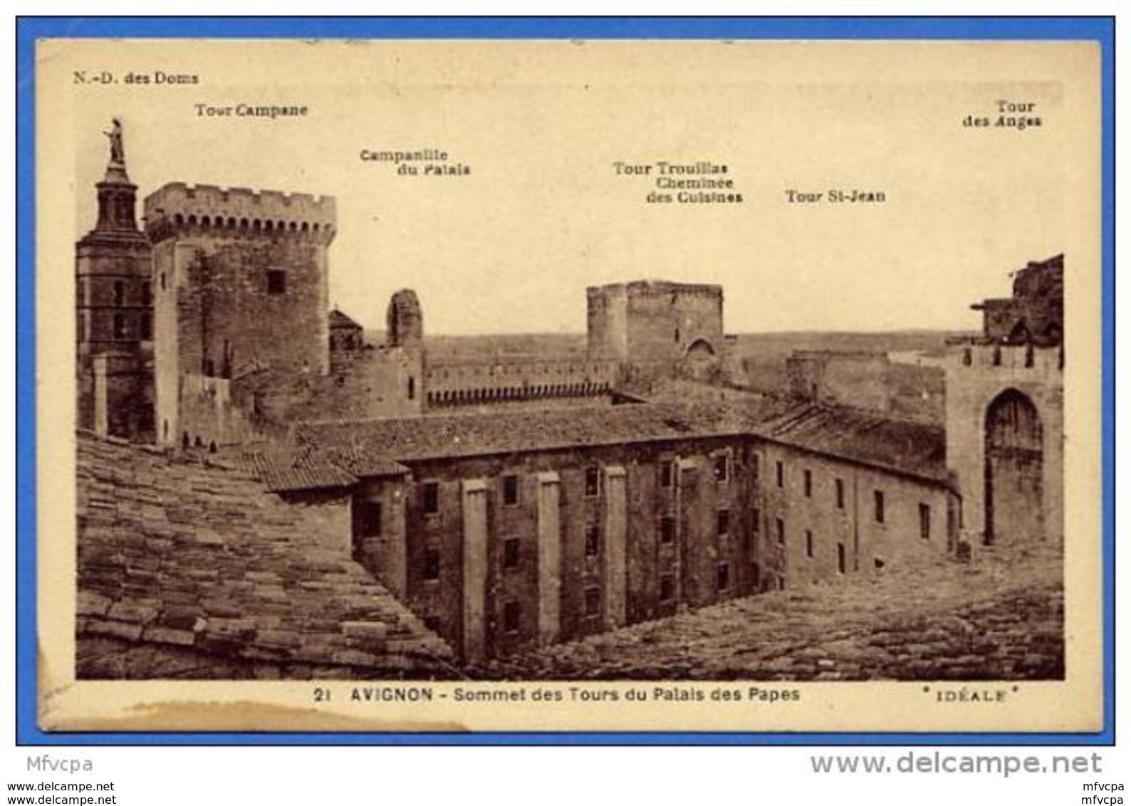 C177 Vaucluse Avignon 21 Sommet Des Tours Du Palais Des Papes (non écrite) - Avignon (Palais & Pont)