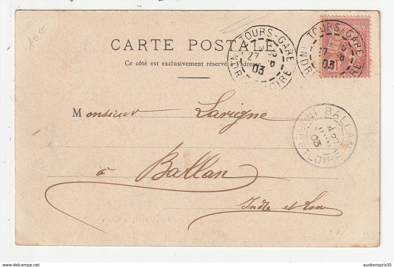 TOURS - LE DEBARQUEMENT DE L'ELEPHANT FRITZ, LE 4 MAI 1902 -37 - Tours