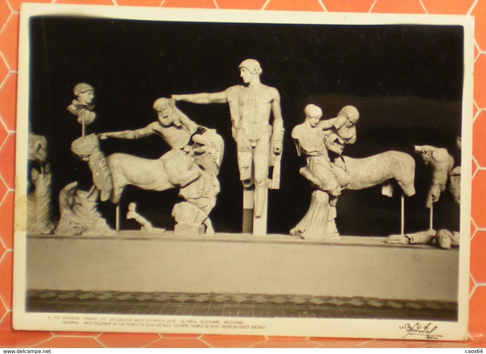 Fronton Ouest Detail Du Temple De Zeus Statue MUSEO OLYMPIE GRECIA CARTOLINA - Sculture