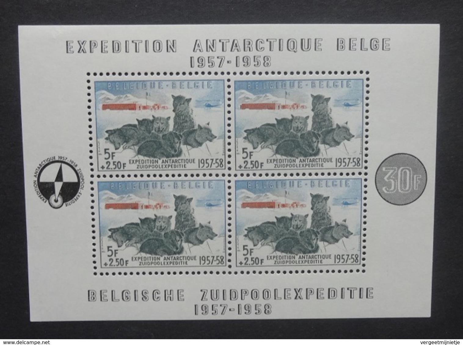 BELGIE  1957    Blok 31    'Zuidpoolexpeditie'      Postfis **      CW  180,00 - Blocs 1924-1960