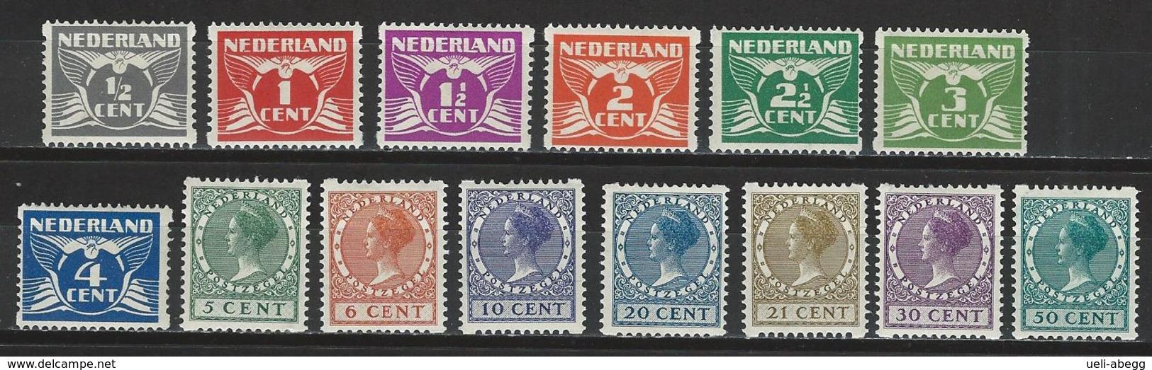 Niederlande NVPH R57-70, Mi 171-77, 178-91, 222, 240D  * MH - Booklets
