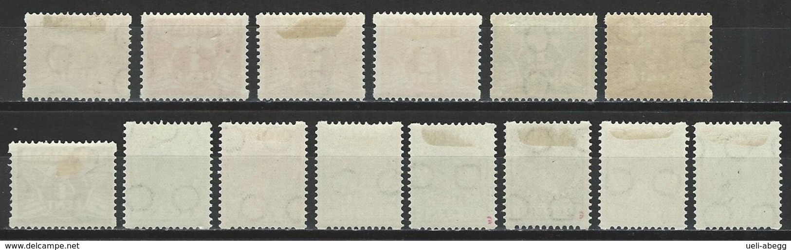 Niederlande NVPH R57-70, Mi 171-77, 178-91, 222, 240D  * MH - Carnets
