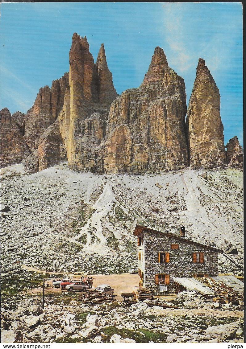 DOLOMITI - RIFUGIO LAVAREDO ALLE TRE CIME - FOTO GHEDINA - VIAGGIATA 1981 - Alpinisme