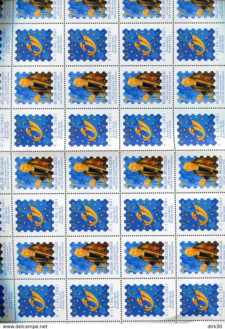 Belgie 2901 2901A Belgica 2001  Full Sheet Mnh  (margin Folds) - Feuilles Complètes