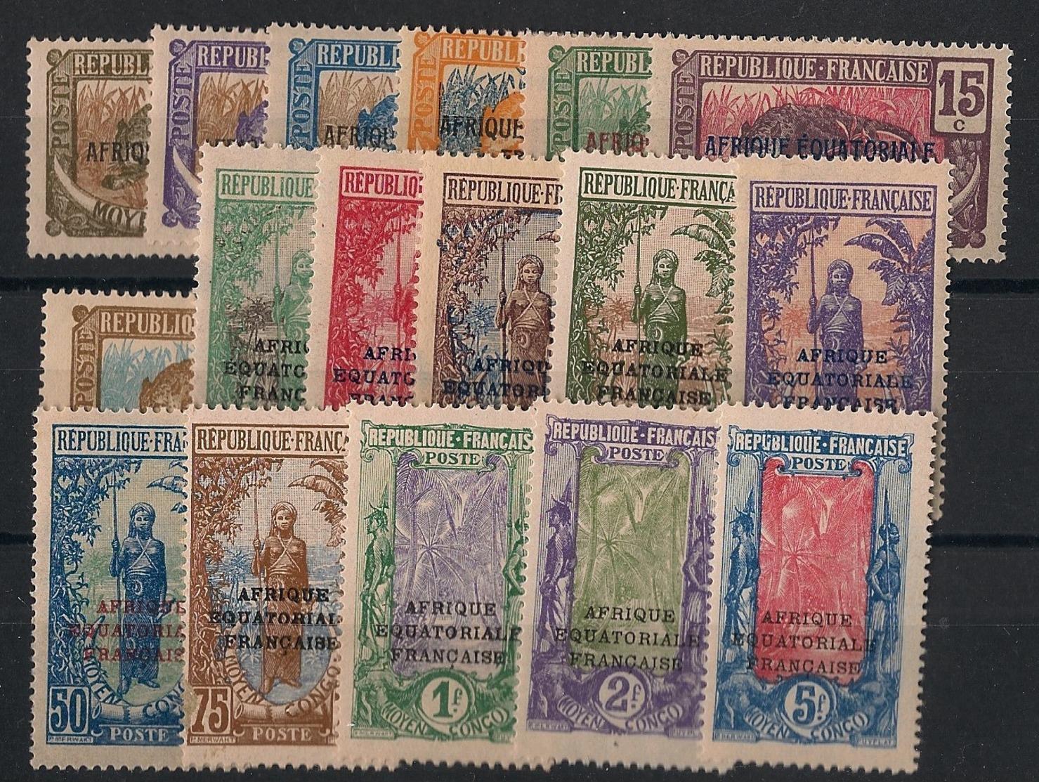 Congo - 1924 - N°Yv. 72 à 88 - Série Complète - Neuf Luxe ** / MNH / Postfrisch - Nuevos