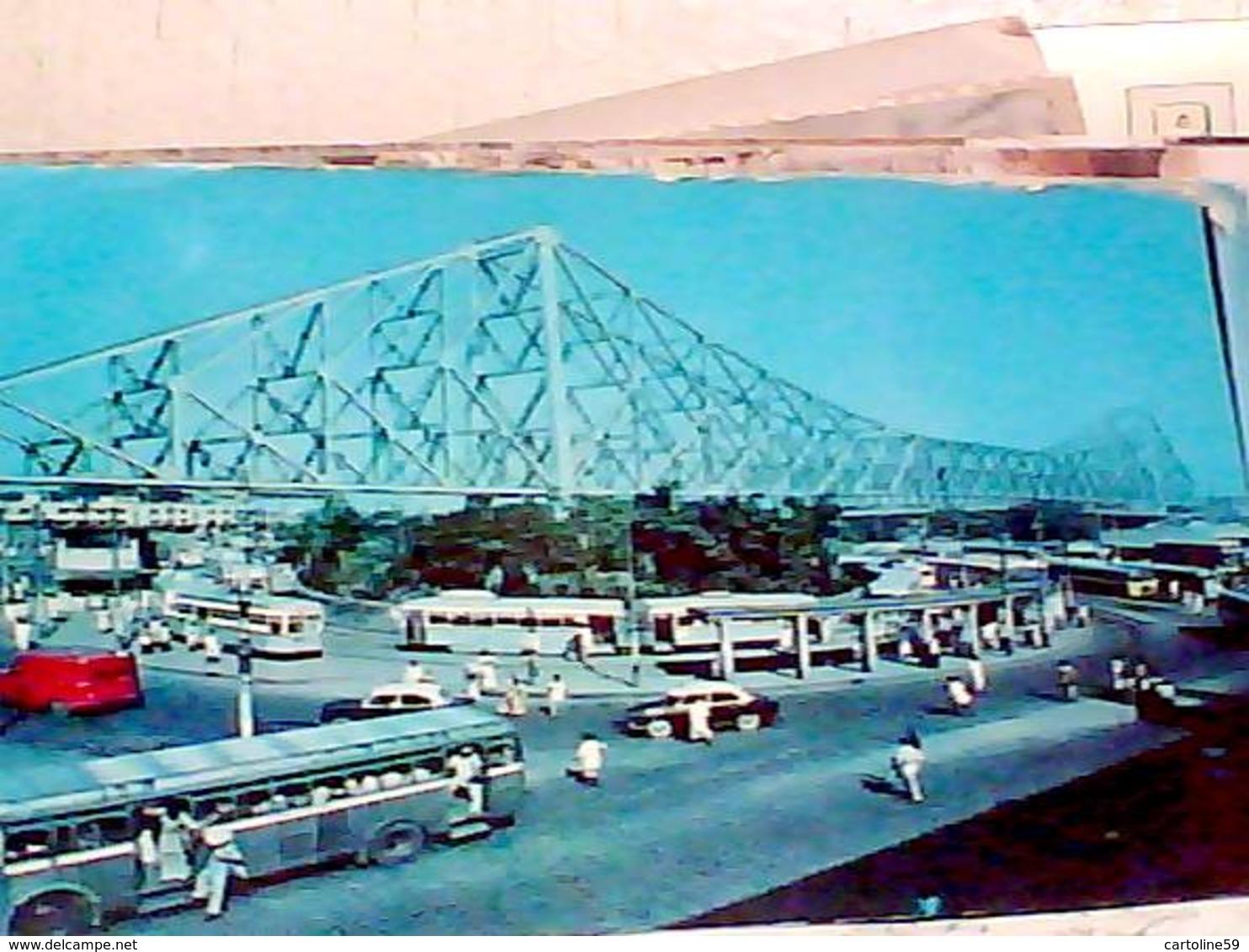 INDIA CALCUTTA  HOWRAH BRIDGE  AUTOBUS TRAM VB1978 HB8466 - India