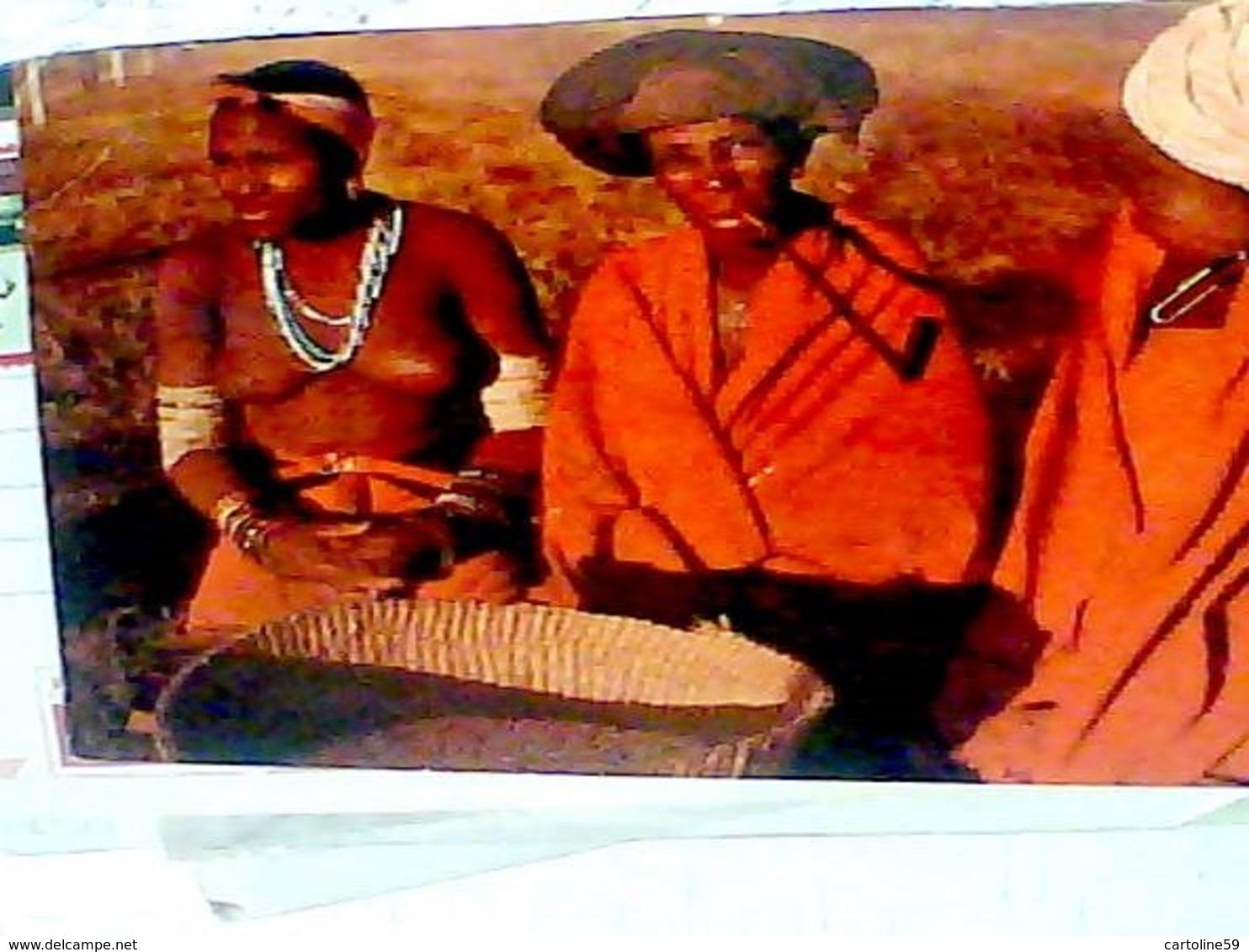 RSA SOUTH AFRICA BANTU-LIFE : People Of The Red Blanket SENO NUDO  PIPA FUMO TABACCO  N1975 HB8468 - Sud Africa